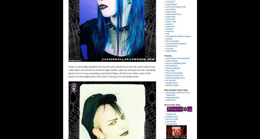 Fetish Art Book Review California Deathrock